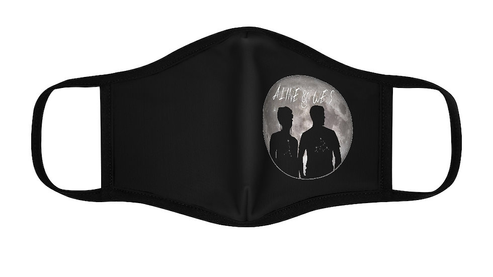 Fitted Polyester Face Mask - Moon