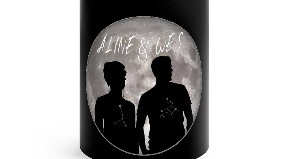 Black mug 11oz - Moon