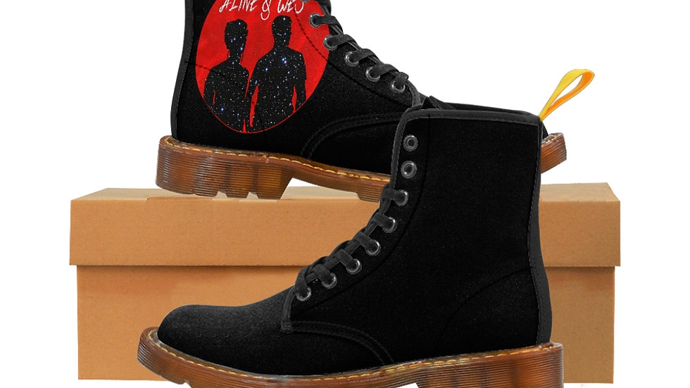 Women's Canvas Boots - Red Moon