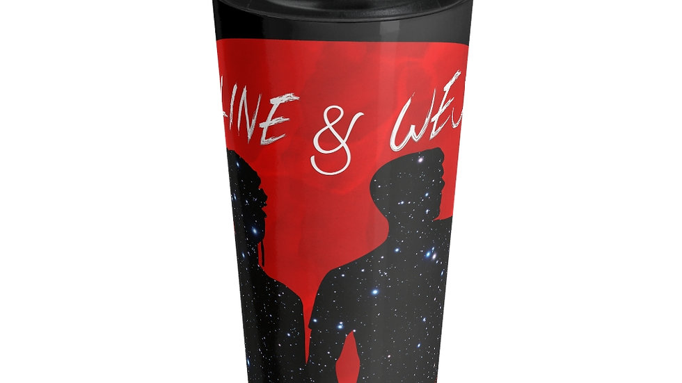 Stainless Steel Travel Mug - Red Moon