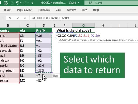 Excel new XLOOKUP function