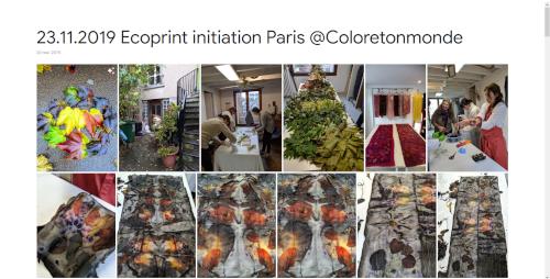 2019-11-23 Ecoprint initiation Paris @Coloretonmonde