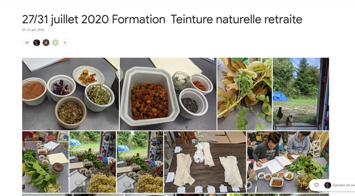 2020 Formation Teinture Naturelle retraite