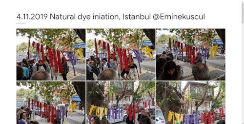 2019-11-04 Natural dye initiation, Istanbul @Eminekuscul