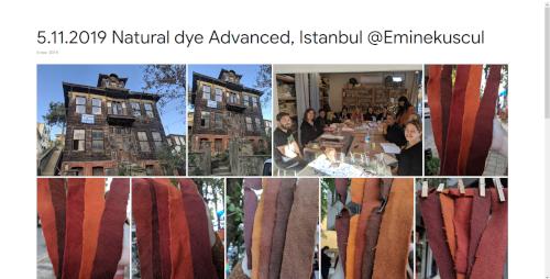 2019-11-05 Natural dye Advanced, Istanbul @Eminekuscul