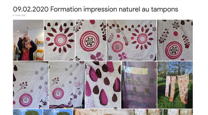 Formation impression naturelle aux tampons