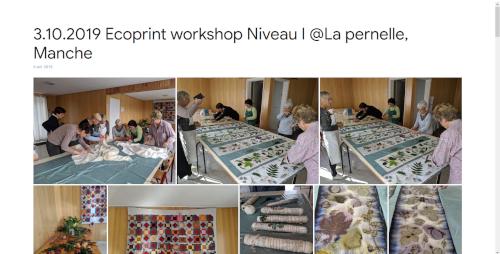 2019-10-03 Ecoprint workshop Niveau I @La pernelle, Manche
