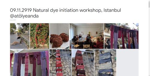 2919-11-09 Natural dye initiation workshop, Istanbul @atölyeanda