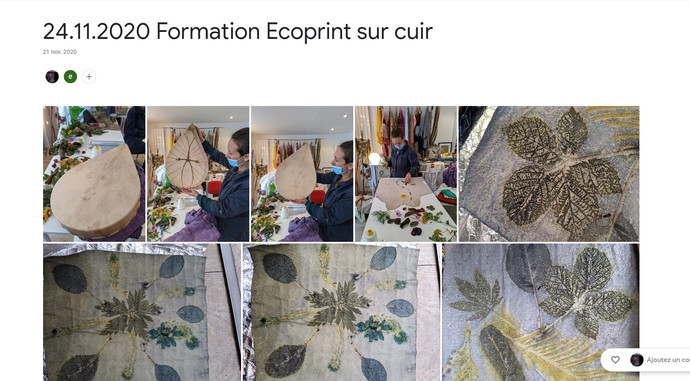 2020 Formation Ecoprint sur cuir