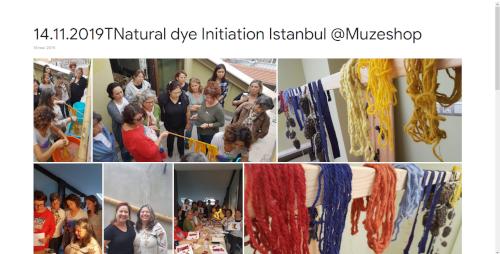 2019-11-14 Natural dye Initiation Istanbul @Muzeshop