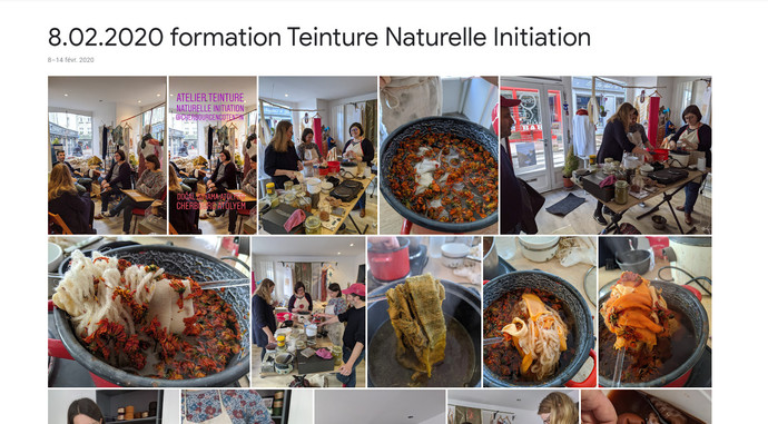 2020 Formation Teinture naturelle initiation