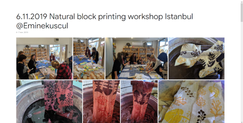 2019-11-06 Natural block printing workshop Istanbul @Eminekuscul