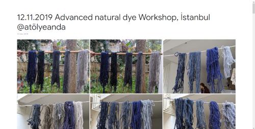 2019-11-12 Advanced natural dye Workshop, İstanbul @atölyeanda