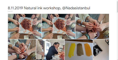 2019-11-08 Natural ink workshop, @Nadasistanbul