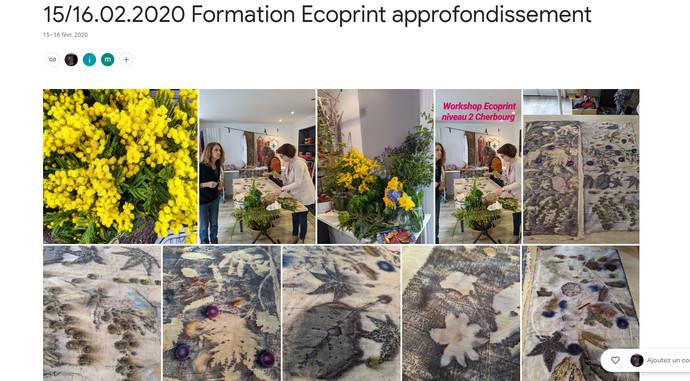 2020 Formation Ecoprint approfondissement