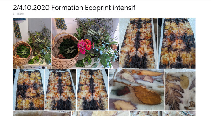 2020 Formation Ecoprint intensif