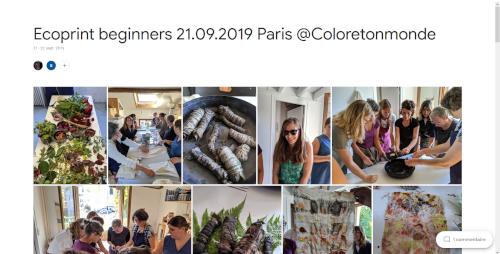 2019-09-21 Ecoprint beginners Paris @Coloretonmonde