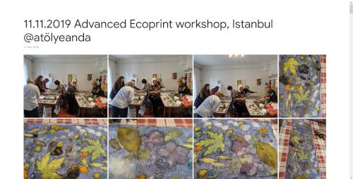 2019-11-11 Advanced Ecoprint workshop, Istanbul @atölyeanda