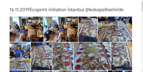 2019-11-16 Ecoprint initiation İstanbul @kokopellisehirde