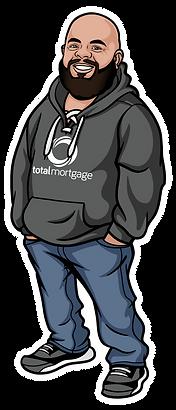 Jorge Cartoon (Large Logo w White Outlin