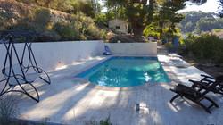 plage de piscine empreintes lame de bois - 13