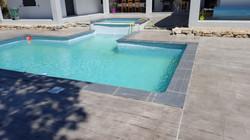 sol beton empreintes Lames de bois gris - 10