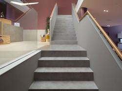 escalier et palier béton millimétrique gris