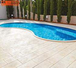 empreinte pierre blanche piscine harico