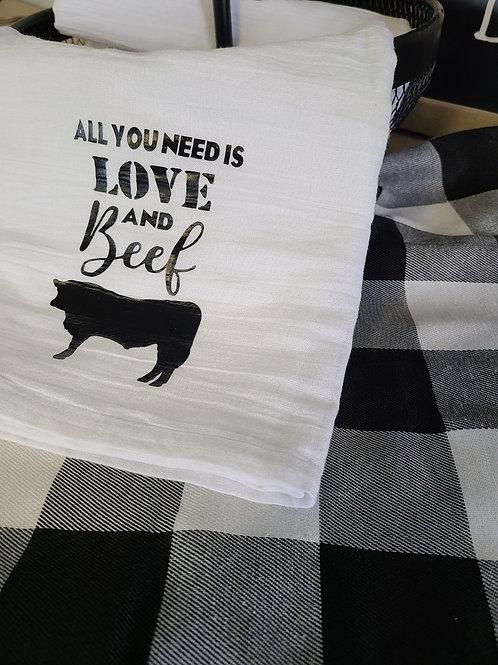 Love & Beef Beef Tea Towel