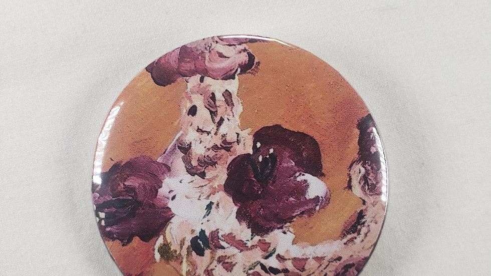 """Morbid Bloom"" 2.25 Inch Pin"