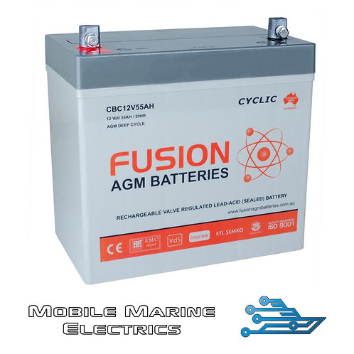 FUSION CBC12V55AH AGM BATTERY