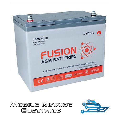 FUSION CBC12V75AH AGM BATTERY