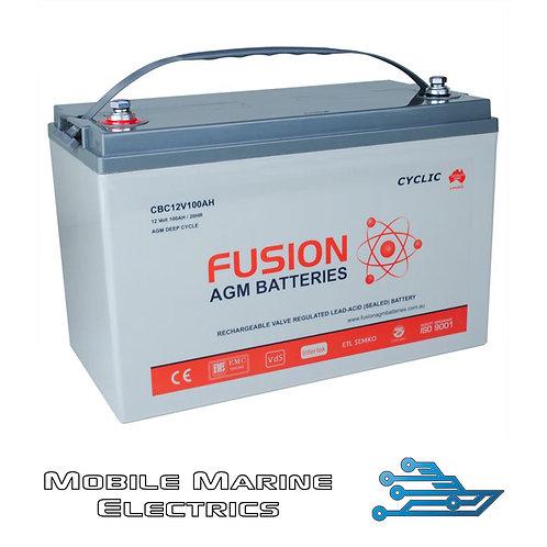FUSION CBC12V100AH AGM BATTERY