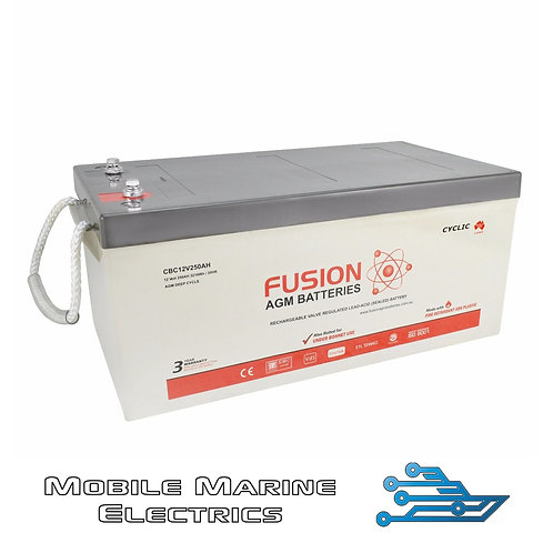FUSION CBC12V250AH AGM BATTERY