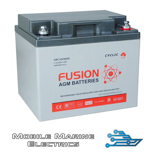 FUSION CBC12V50AH AGM BATTERY