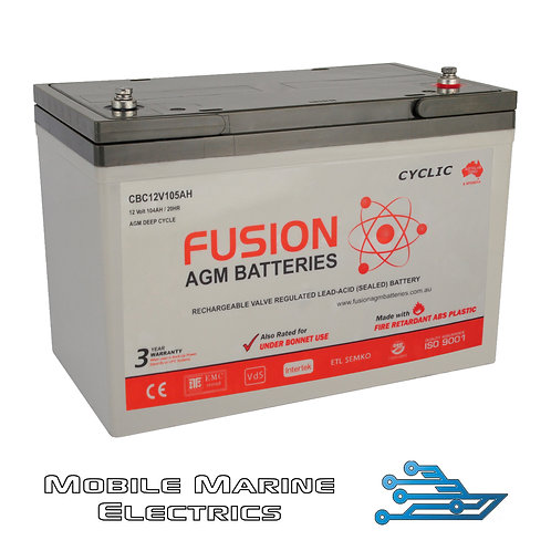 FUSION CBC12V105AH AGM BATTERY
