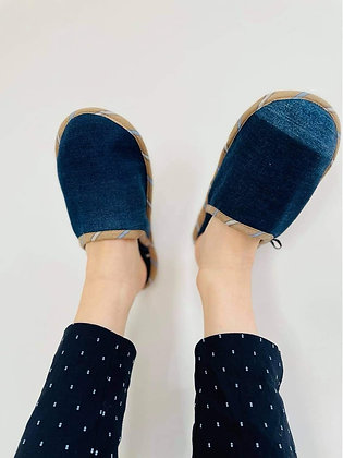 Upcycled Denim Slippers