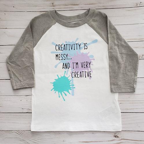 Play Lab 3/4 Length Shirt - Creativity is Messy