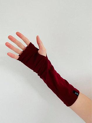 Maroon Merino Gloves