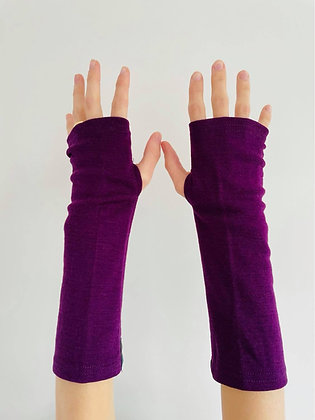 Purple Merino Gloves