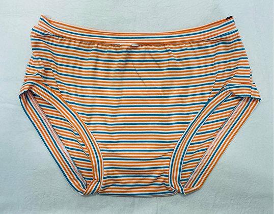 Orange/Blue Stripe Undies Size M