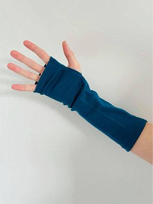 Turquoise Merino Gloves