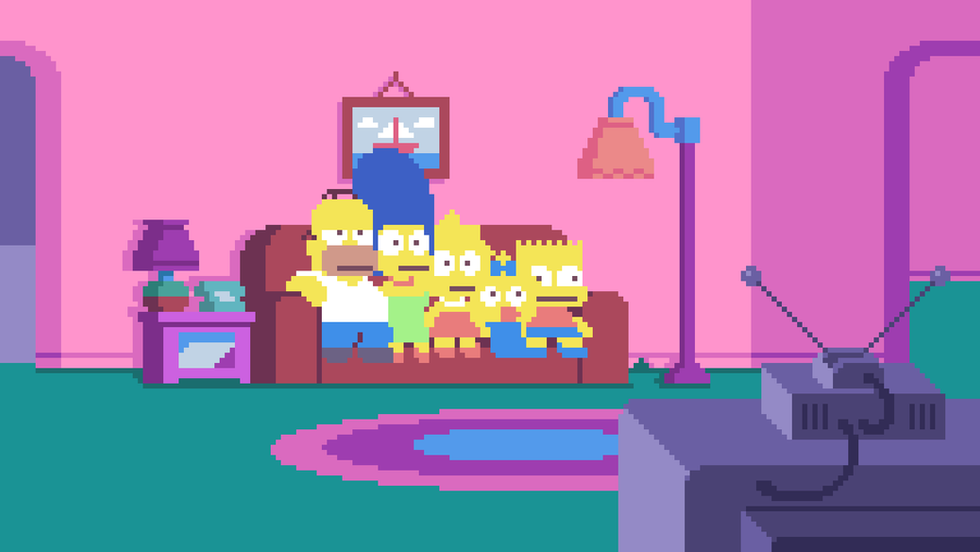 Simpsons Pixels Intro
