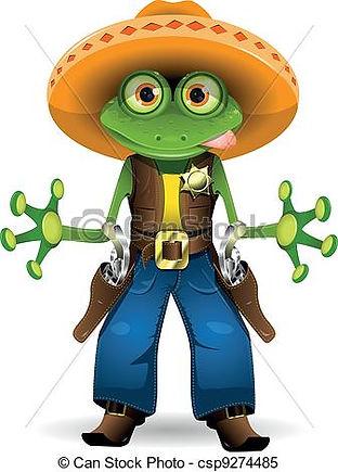 frosch-sheriff-clipart-vektor_csp9274485
