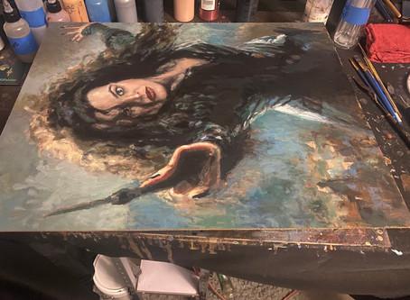 Three more paintings getting resurfaced