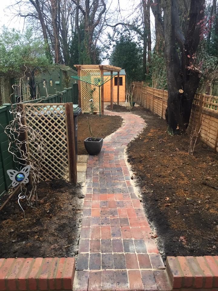 A new brick path