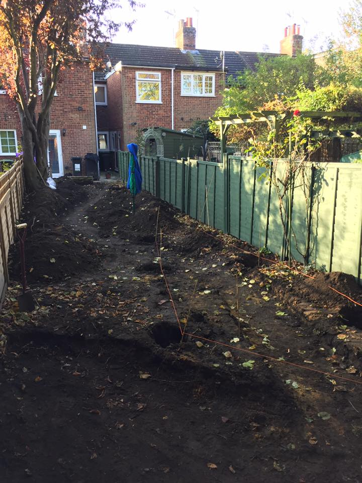 A garden full of top soil