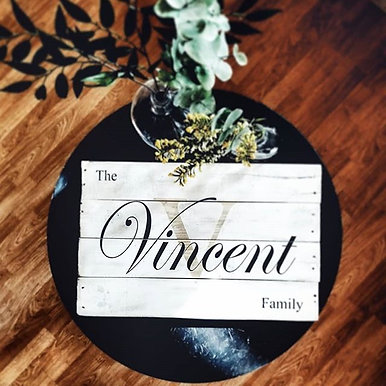 Family Name Pallet Sign