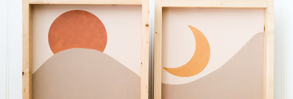 Sun & Moon at the Dunes- Wood Signs