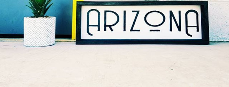 ARIZONA Wood Sign